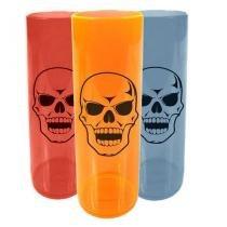 Copo Long Drink Caveira Halloween - Cores Sortidas - Aluá festas