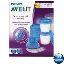 Copo Para Armazenamento De Leite Materno Philips Avent Kit C/ 10 Unidades -