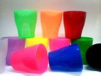 Copo Plástico 250ml Gold Azul Oldaniplast -