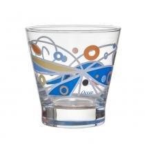 Copos Baixos Bossa Butterfly 345 ml 6 Peças Blue Azul Ocean - Ocean