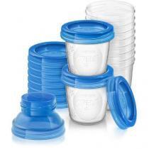 Copos para armazenamento de leite materno philips avent scf618/10 - Philips avent