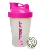Coqueteleira Shaker Bottle - 400Ml - Rosa - Tribe Fit -