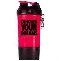 Coqueteleira Shaker Rosa c/ Divisória - 500ml - Iridium Labs -