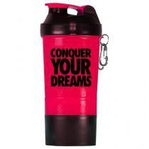 Coqueteleira Shaker Rosa c/ Divisória - 500ml - Iridium Labs - Iridium Labs