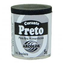 Corante em Pó Preto 5g - Arcolor -