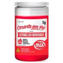 Corante em pó Vermelho Morango 5g - Mix -