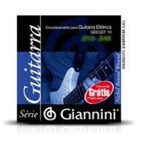 Corda de aco canario geegst10.1 para guitarra com bolinha 1a corda giannini - Giannini
