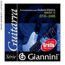 Corda de aco canario geegst9.5 para guitarra com bolinha 5a corda giannini - Giannini