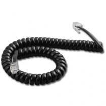 Cordão Espiral Para Monofone 1,70m Preto - Dantas -