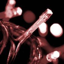 Cordao Luminoso Economico 50 Leds Com Isolamento Cristal 127v Vermelho Taschibra TASCHIBRA