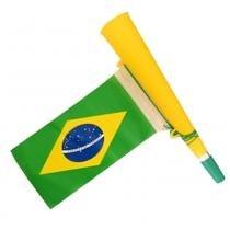 Corneta com bandeira torcida brasil olimpiada ydhsz-8251 - AMARELO - Yang dong
