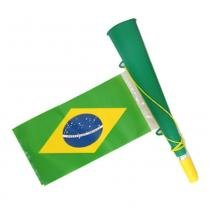 Corneta com bandeira torcida brasil olimpiada ydhsz-8251 - VERDE - Yang dong