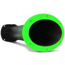 "Corneta Longa Fiamon Jarrão 1"" Bicolor Preto e Verde Fluorescente Parafuso Rosca Bocal Oval - Fiamon sound componentes"