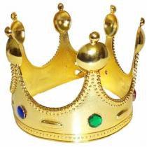 Coroa Rei Acessorio Fantasia Carnaval Festa Show Evento (BSL-2653-9) - Braslu