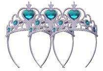 Coroa Tiara Kit Com 3 Unidades para Bloco de Carnaval Festa Fantasia Azul (BSL-2653-3) - Braslu