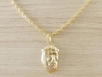 Corrente Masculina Cordão 50cm 3,5mm e Pingente Face de Jesus Tudo Folheada á Ouro. Cod: 1819/1929 - Gabriela costa semi jóias