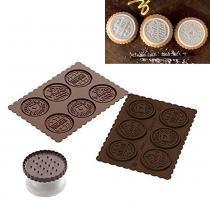 Cortador de biscoitos e forma assadeira para chocolate formato redondo 2 peças prana - Prana