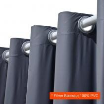 Cortina Blackout para Varão Filme Cinza 2,80x1,80 cm - Marka textil