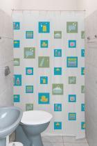 Cortina Box Para Banheiro 100 Pvc Com Estampa Do Patinho e Kit Instalação - Tutti Casa