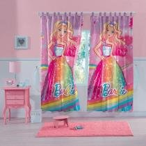 Cortina Infantil - Barbie Reinos Mágicos - 3,00m x 1,80m - P/ Varão - Lepper - Lepper