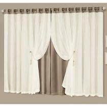 Cortina para Home Office/Quarto/Sala Chocolate - Idealle 2,00x1,70m