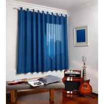 Cortina para Quarto e Sala Azul Santista - Londres 2,00x2,30m