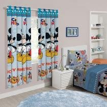 Cortina para Quarto Estampada Santista - Mickey Fun 2,00x1,80m