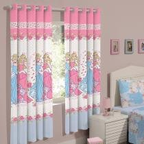 Cortina para Quarto Infantil Rosa Santista - Princess World 2,00x1,80m