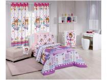 Cortina para Quarto Infantil Santista Disney  - Sofia Heart 2,80x1,80m