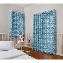 Cortina para Quarto/Sala Azul Santista - Londres Malay 2,00x3,00m