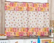 CortinaBordados Ricardo Cozinha 2m - Cupcake - Bordados Ricardo
