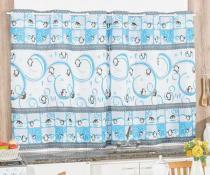 CortinaBordados Ricardo Cozinha 2m - Pinguin - Bordados Ricardo