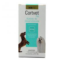 CortVet Pet 0,5mg 10 comp UCBVet Anti-inflamatório Cães - Descrição marketplace -