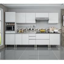 Cozinha Clarice Itatiaia em Aço 8 Peças com Pia 11 Portas Azul e Branca - Branca - Itatiaia