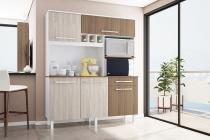 Cozinha Classic Gold 1600  Branco com Elmo e Montana - Madine Móveis -