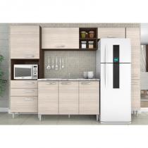 Cozinha Compacta 05 Peças Natalia Balcão Paneleiro - Poquema -