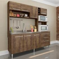 Cozinha Compacta 3 Peças 173 Blume Casamia (Não Acompanha Pia e Torneira) Dark -