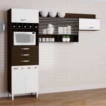Cozinha Compacta 3 Peças Gabriela Aramóveis (Não Acompanha Balcão) Ravello/Branco -