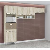 Cozinha Compacta 3 Peças Isabella (Não Acompanha Balcão) Aramoveis 2017 Aramóveis Essence/Marrom -