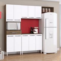 Cozinha Compacta 3 Peças Isadora Aramóveis (Não Acompanha Balcão) Dakota/Branco -