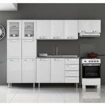 Cozinha Compacta 4 Peças Balcão com Tampo Itanew Itatiaia Branco - Itatiaia