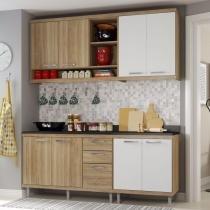 Cozinha Compacta 4 Peças Sicília S10T Multimóveis Argila/Branco -
