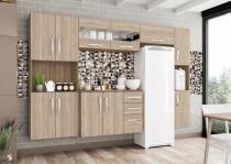Cozinha compacta 5 peças mariana - ébano-ártico - mobini -