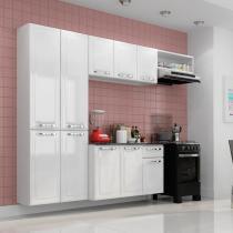Cozinha compacta amanda com balcão 1 gaveta em aço - branco - Itatiaia