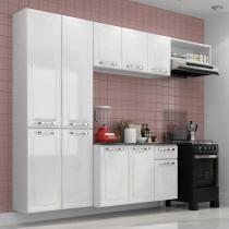 Cozinha Compacta Amanda Itatiaia Branco Nevada - 4 Peças -