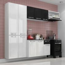 Cozinha Compacta Amanda Itatiaia Branco Preto -