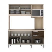 Cozinha Compacta B108 B105 Fendi Moka Briz -