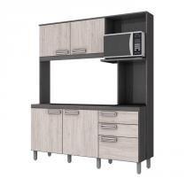 Cozinha Compacta B108 B105 Gris Palha Briz -