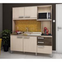 Cozinha Compacta B108 Fendi Moka Briz -