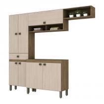 Cozinha Compacta B110 Rustico Fendi Briz -